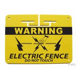 "Heavy Duty 1/8"" Plastic Warning Sign"