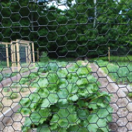 """48"""" High, 1"""" Hex Mesh Fence, Black Vinyl Coated, 150' Roll (Woven Wire)"""