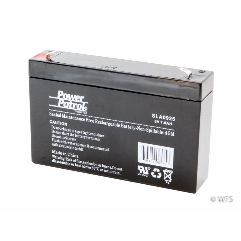 Sealed AGM Battery - 6 volt, 7 amp