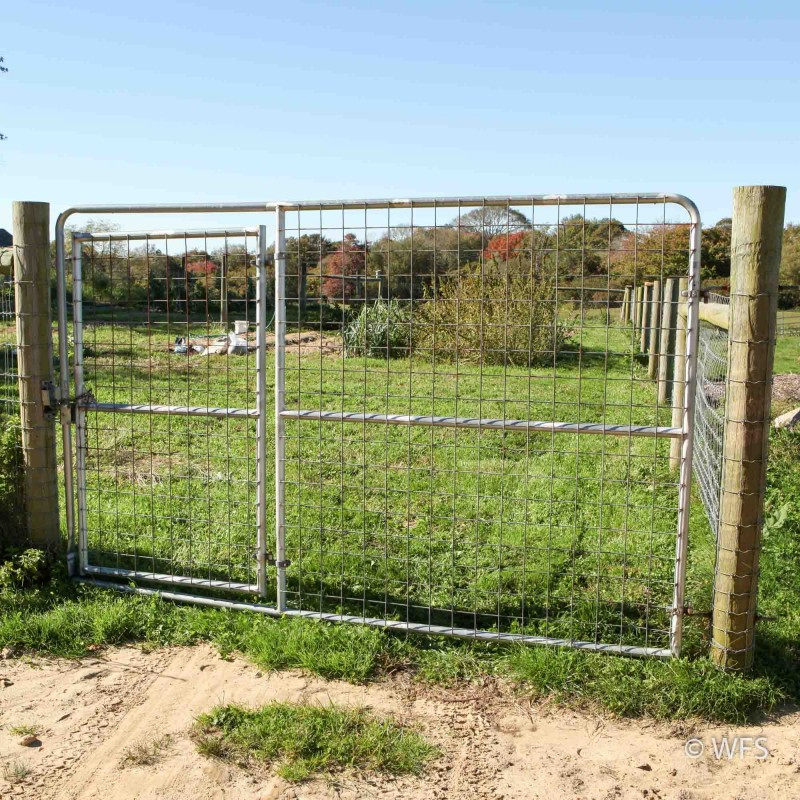 "74"" x 12' Heavy Duty 4x4"" Mesh Gate with 4' Walk-Thru Gate"