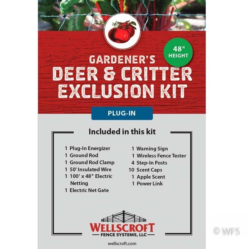 Gardener's Deer & Critter Exclusion Plug-in Kit