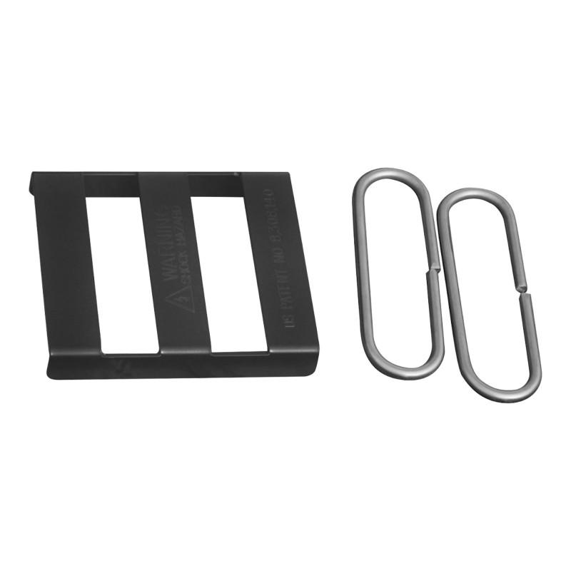 Splice Bracket, Black (Polymer Coated Wire)