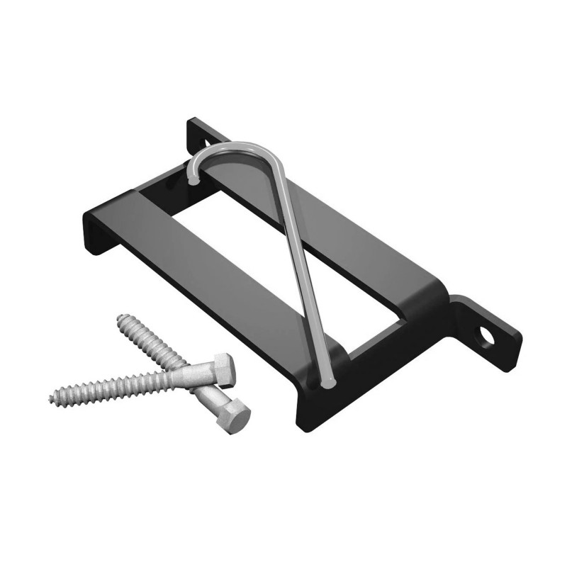 T-Bracket, Black (Polymer Coated Wire)