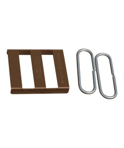 Splice Bracket, Brown (Polymer Coated Wire)
