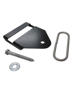 Termination Bracket, Black (Polymer Coated Wire)