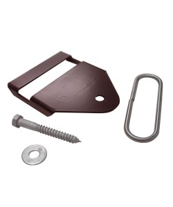 Termination Bracket, Brown (Polymer Coated Wire)