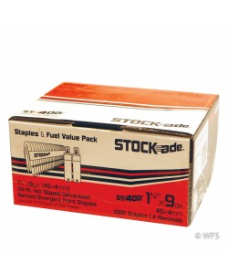 "1.75"" STOCKade Staples w/ Cartridges for Cordless Staplers, box of 1000"
