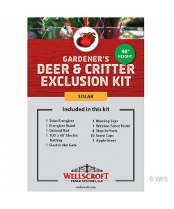 "Gardener's 48"" Deer & Critter Exclusion Solar Kit"