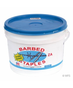 Long Double Barbed Staples, ZA Coated, 50 lb. tub