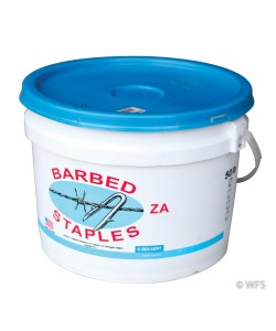 Short Barbed Staples, ZA Coated, 50 lb. tub