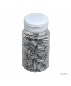 Short Splicing Sleeves for 12½ Gauge Wire, jar of 100